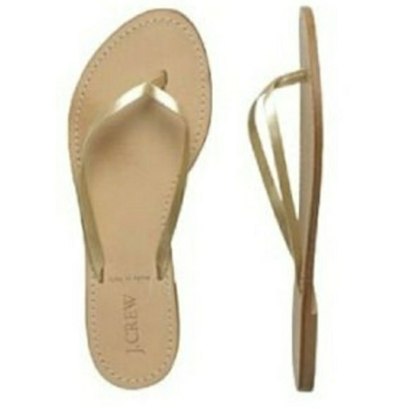 c11f3c706afd J. Crew Shoes - JCREW GOLD CAPRI FLIP FLOPS!